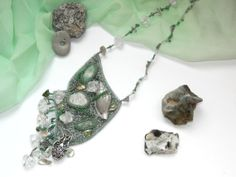 Beach beaded necklaceSea ocean shell by KatrinJewelryChest on Etsy, $49.00