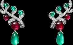Cartier Jewelry, Motifs, Creations, Sparkle, Drop Earrings, Gemstones, Artwork, Beautiful, Turntable