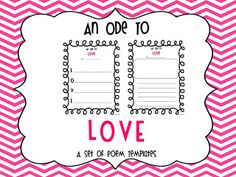 An Ode To Love - Valentine's Day Poem Templates