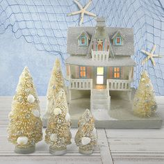 The winter breeze in your hair, a chilly walk over frosted sand and a cup of hot cocoa waiting at home—bring a touch of seaside charm to holiday décor with this collection of beachy items. From urchin ornaments to distressed figurines, the whole family will be seaing stars while friends are shore to love your new interior accents.