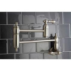 Restoration Satin Nickel Pot-filler Kitchen Faucet | Overstock.com