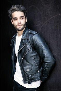 Výsledek obrázku pro hot mens leather jacket