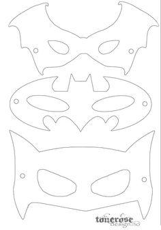 coloring pages - Free printable superhero masks! by lilian Printable Masks, Templates Printable Free, Batman Birthday, Superhero Birthday Party, Birthday Parties, Superhero Mask Template, Diy Superhero Costume, Superhero Halloween, Maske Halloween