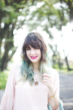 http://melinasouza.com/2015/04/15/sweet-pink-mint-green-polka-dots/  Melina Souza - Serendipity <3  #OASAP #Tutu Ateliê de sapatilhas #LOOK