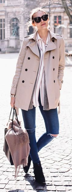 Crop Trench Inspiration Outfit