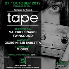 Tape  'Official Opening' at Saponeria Club