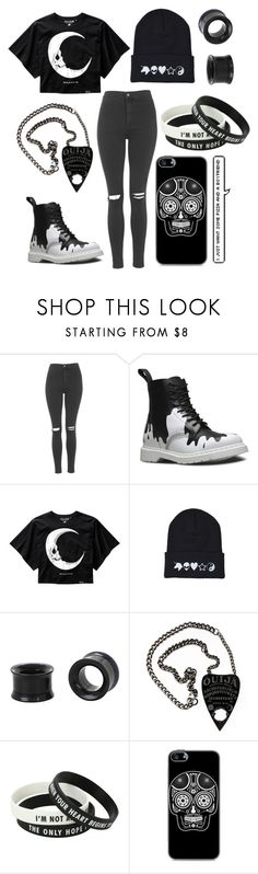 """There is nothing you can do that I have not already done to myself"" by internetchild ❤ liked on Polyvore featuring Topshop and Dr. Martens"