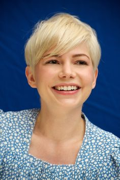 adorable, blonde, michelle williams, short hair
