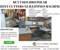 Printer's Parts & Equipment Offer 2005 POLAR Cutters/Guillotines Machine at worldwide. For more nformation, call us @ / Printer, Outdoor Decor, Home Decor, Homemade Home Decor, Decoration Home, Room Decor, Interior Design, Home Interiors, Interior Decorating