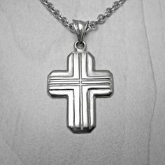 #etsy shop: Mens silver cross,mens cross necklace,mens cross pendant,modern mens cross,baptism cross,mens cross symbol,orthodox cross,baptism mens cross http://etsy.me/2yHdsOy #jewelry #necklace #silver #boys #religious #cross #christmas #baptism #minimalist
