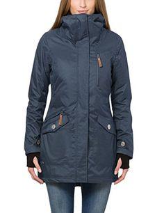 Für Blau Jacke Fädchen Damen Faules Naketano Langes Mädchen L543AqRj