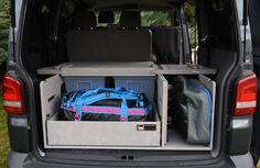 VW T5/T6 Transporter - TRAVEL-SLEEP-BOX Vw T5, Kombi Camper, Volkswagen, Campervan, T5 Transporter, Caravelle Vw, Sleep Box, Bus Interior, Minivan Camping