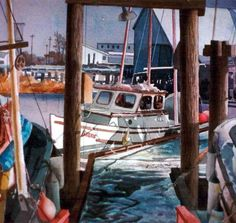 Steveston Barbour Richmond, bc Watercolor