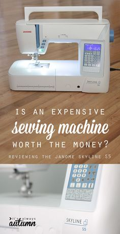 is it worth it to buy an expensive sewing machine or should you just stick with a budget machine for a lot less money? #sp