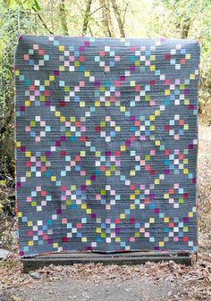 We have a really fun quilt to show you today. This is our Candy Shoppe Quilt pattern, and this quilt top was one we made from the scraps of our Dyehouse Quilt, during our Candy Shoppe Quil… Jellyroll Quilts, Scrappy Quilts, Baby Quilts, Mini Quilts, Small Quilts, Nancy Zieman, Strip Quilts, Quilt Blocks, Quilt Kits