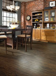Get the same gorgeous, grainy appearance of hardwood for less when you choose one of our laminate variations!