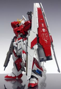 GUNDAM GUY: MG 1/100 Red Hi-Nu Gundam H.W.S. - Customized Build