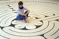 A labyrinth is an ancient symbol of wholeness that combines the imagery of the circle and the spiral into a meandering but purposeful path.  from: unitync.net/Labyrinth.html