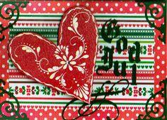 SAVE $4 On 1 Of A Kind Origina 3D Handmade Scandinavian Christmas Card, Free S/H #DahlHouse