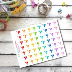 """Approximately 0.75"""" round karate stickers to fit in the weekly spread of your ECLP/PP planner. 56 stickers per sheet. Stickers are """"kiss-cut"""" and ready for you to peel and stick! The Sassy Planner's s"""