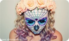 Halloween Makeup: Sugar-Skull {girly halloween Look}