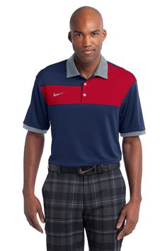 Nike Golf Dri-Fit Sport Colorblock Polo, Homme, Black/Flint Grey/Black