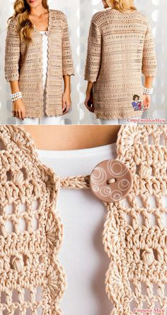 weibliche-weste-muster-stricken-stricken-baby-weste-muster-hakeln-baby-bella/ - The world's most private search engine Diy Crochet Sweater, Crochet Coat, Crochet Jacket, Crochet Blouse, Crochet Clothes, Knit Vest, Crochet Bolero Pattern, Vest Pattern, Knitting Patterns
