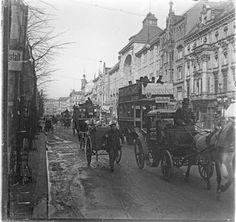 """Berlin 1913 Friedrichstrasse Nordseite-In der Bildmitte Eingang zur """"Friedrichstrassen-Passage"""""""