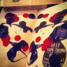 drip something and make a ink blot sort of thing