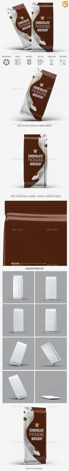 Chocolate Packaging Mock-Up