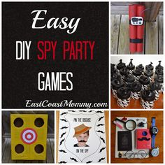 DIY Spy Party - 5 easy and inexpensive party games.