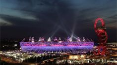 The Olympic Stadium lit up for the Closing Ceremony    The Olympic Stadium illuminated for the start of the Closing Ceremony of the London 2012 Olympic Games.