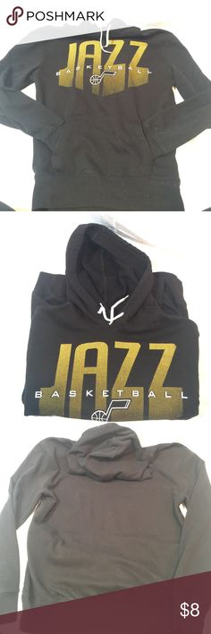 NBA Apparel Men's Utah Jazz Black Hoodie NBA Apparel Men's Utah Jazz Black Hoodie.  With front pouch and draw strings. Excellent condition. Has never been in a dryer. Blue Label NBA Shirts Sweatshirts & Hoodies