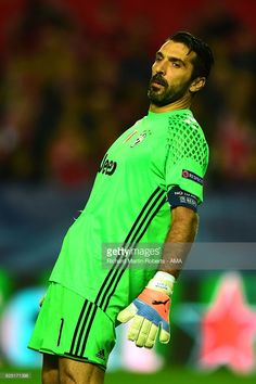 Gianluigi Buffon of Juventus looks on during the UEFA Champions League match between Sevilla FC and Juventus at Estadio Ramon Sanchez Pizjuan on November 22, 2016 in Seville, Spain.