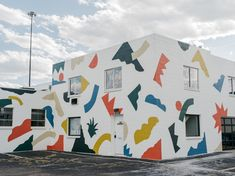 Exterior free form mural for pattern, an artist run collaborative workspace, gallery, and photobook library in denver, co. Mural Wall Art, Expo, Illustrations, Photo Book, Doraemon, Design Inspiration, Exterior, Abstract, Artist