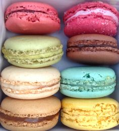 Colorful macaroons from Paris