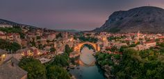 Ottoman bridge in the city of Mostar in Bosnia and Herzegovina that crosses the river Neretva and connects two parts of the city.