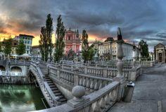 #Tromostovje. Večerna svetloba. #PictureSlovenia