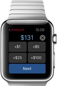 CIBC, the Canadian bank, officially released its Apple Watch and may probably be the first banking app that includes funds transfer (in addition to the now-standard account check, transaction details and find-a-branch functionality.)