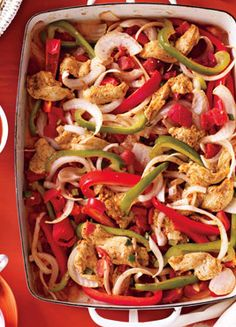 One dish meals! Healthy and easy Chicken Fajitas! | self