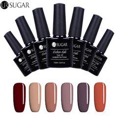 UR SUGAR UV Gel Polish Soak Off Gel Lacquer UV Led 7.5ml Enamel Nail Art Gel Pol #URSuga