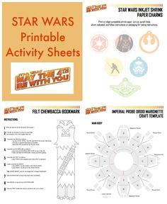 Star Wars Printable Activity Sheets