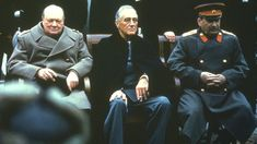 As World War Two was ending the leaders of the UK, US and USSR met to plan post-war peace.