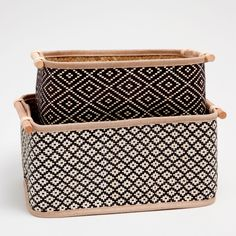 Image 1 of the product Rectangular basket with two-tone design