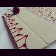 Caderno de Assinaturas com costura japonesa