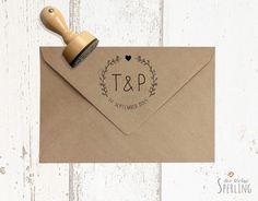Einladungskarten - STEMPEL . Hochzeitsstempel . Zarte Blätter - ein Designerstück von DerkleineSperling-Stempel bei DaWanda