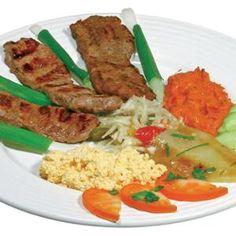 Bélszín steak - Megrendelhető itt: www.hu - A vizuális ételrendelő. Fish Recipes, Food Videos, Seafood, Steak, Grains, Rice, Chicken, Ethnic Recipes, Youtube