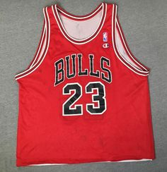 98c6e5823 MICHAEL JORDAN Jersey 90s Vtg Champion Chicago Bulls Reversible Throwback  Air US  Champion  chicagoBulls