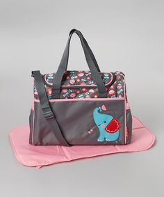 Another great find on #zulily! Elephant Duffel Diaper Bag by Baby Essentials #zulilyfinds