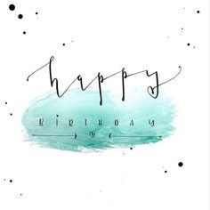 happy birthday Birthday card design – Handlettering with ink & feather on watercolor background – DIY tutorial for this lettering with … - Birthday Wishes Cards, Bday Cards, Birthday Messages, Birthday Greetings, Best Birthday Quotes, Happy Birthday Images, Birthday Pictures, 3d Templates, Birthday Card Design